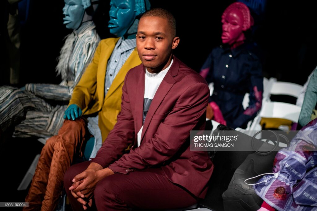 South African designer Thebe Magugu poses in Paris on February 25, 2020.