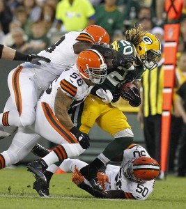 Packers running back Alex Green vs. Browns
