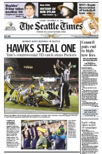Seattle Times cover Packers vs. Seahawks