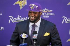 Vikings first-round draft pick Shariff Floyd.