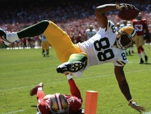 Packers tight end Jermichael Finley was a positive for the Packers, except for one play that landed him on the Lame Calls list.