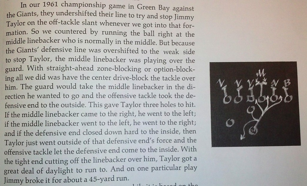 """An excerpt from the book """"Vince Lombardi on Football."""" Fair use exceptions apply for the purposes of commentary and teaching."""