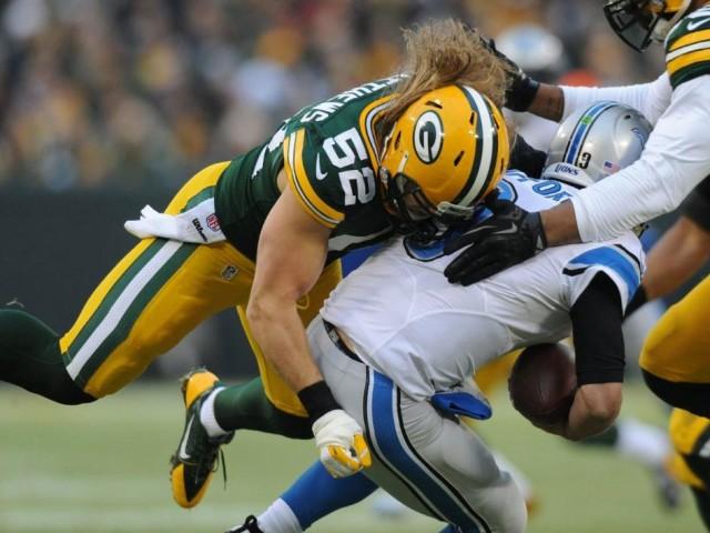 Packers Clay Matthews sacks Lions Matthew Stafford