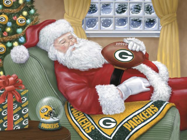 Packers Santa Visits Lambeau Field