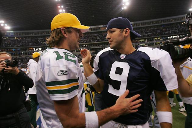 Aaron Rodgers and Tony Romo