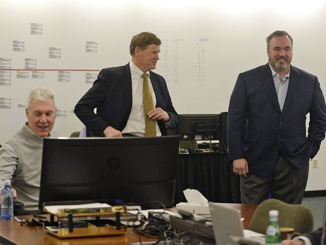 Photo from PackersNews.com: Green Bay Packers war room 2015