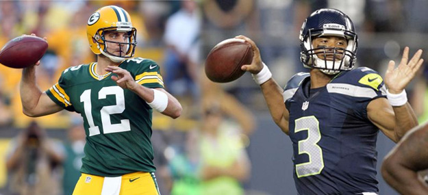 Packers Aaron Rodgers and Seahawks Russell Wilson
