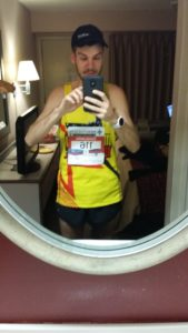 2016 glass city marathon prerace selfie -- achieving millennial