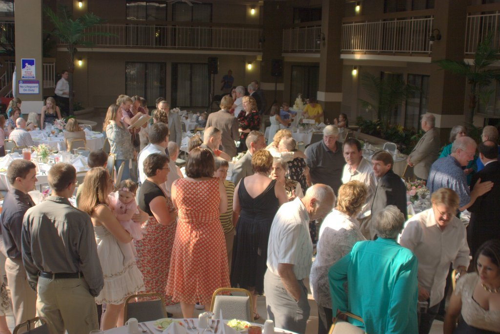 crowd scene 50th anniversary