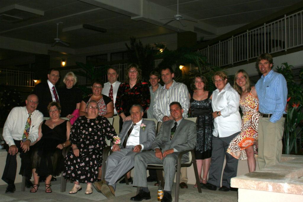 family at anniversary