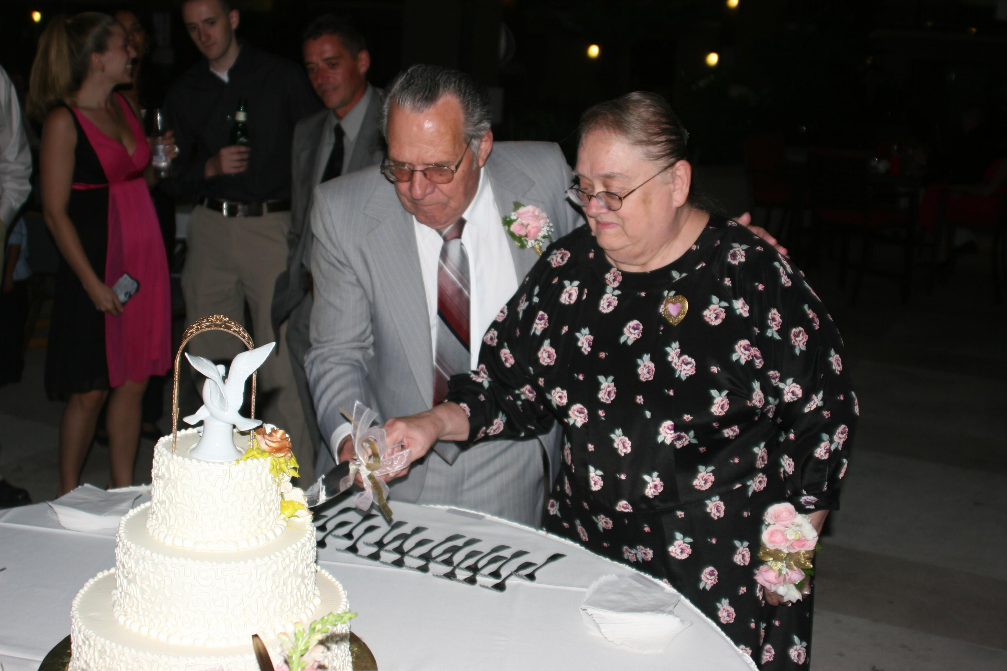 Cutting Cake 50th anniversary