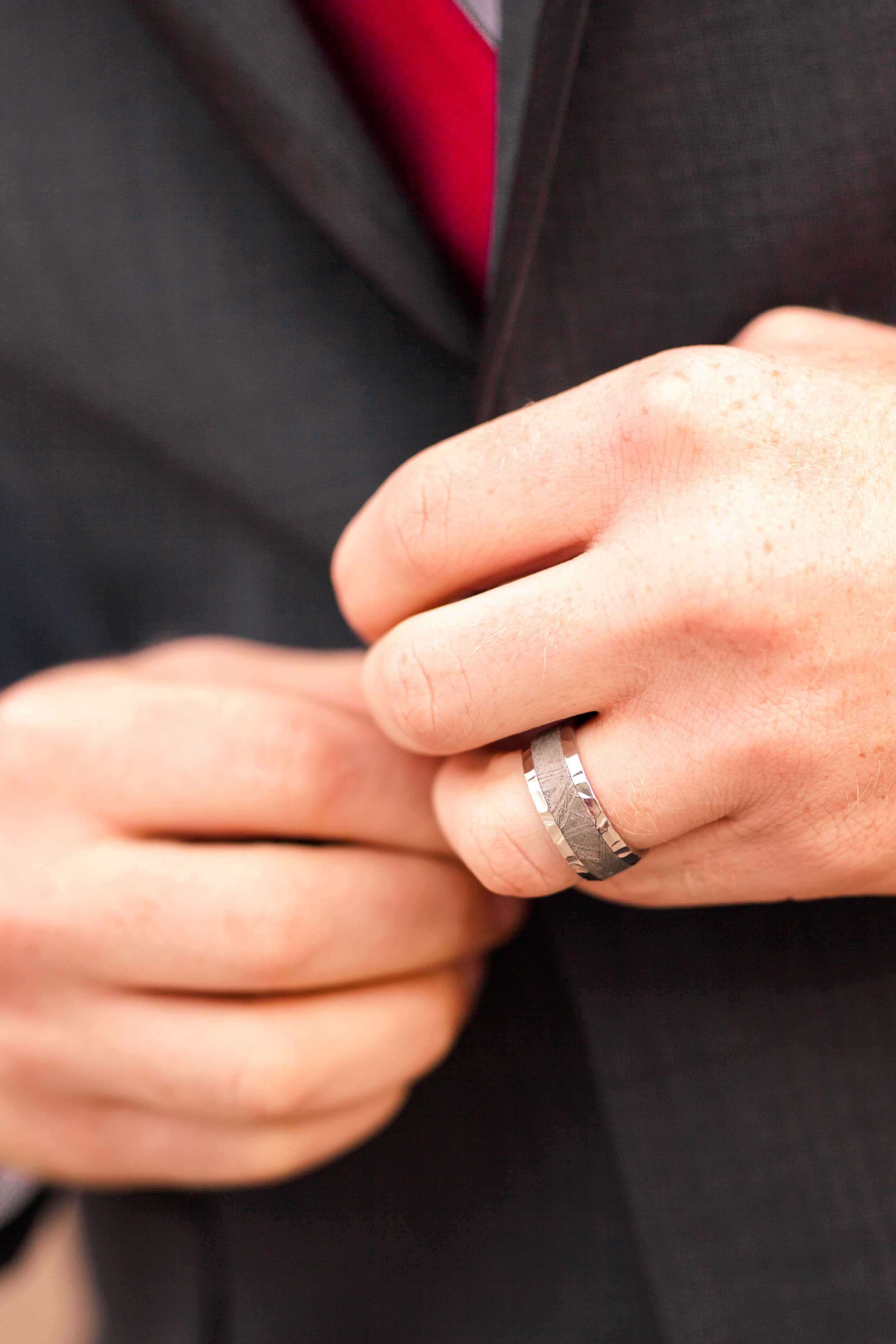 groom with ring