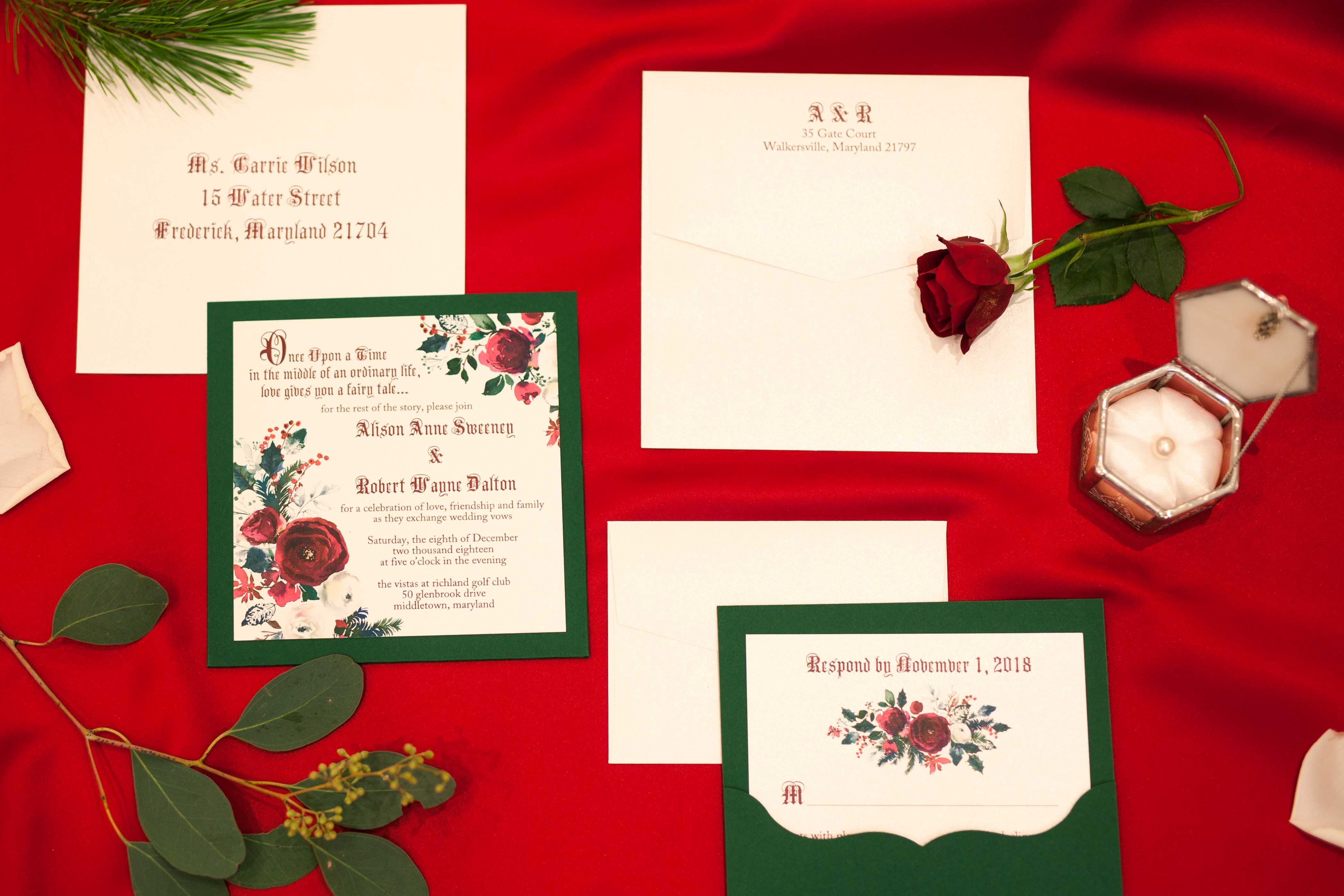 winter fairy tale invitations rose pine