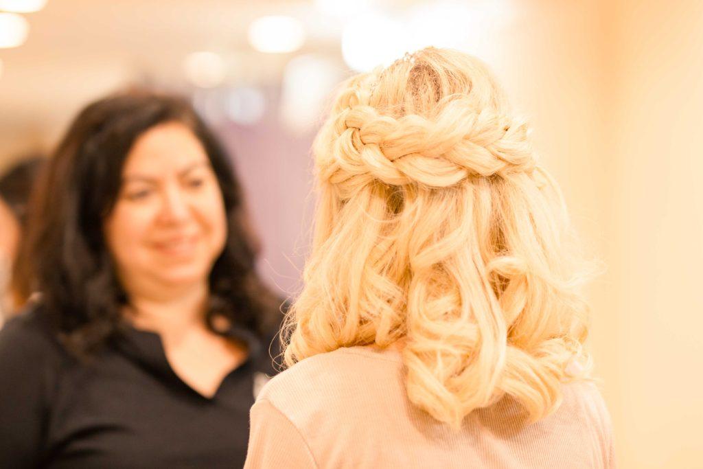 bride hair braids