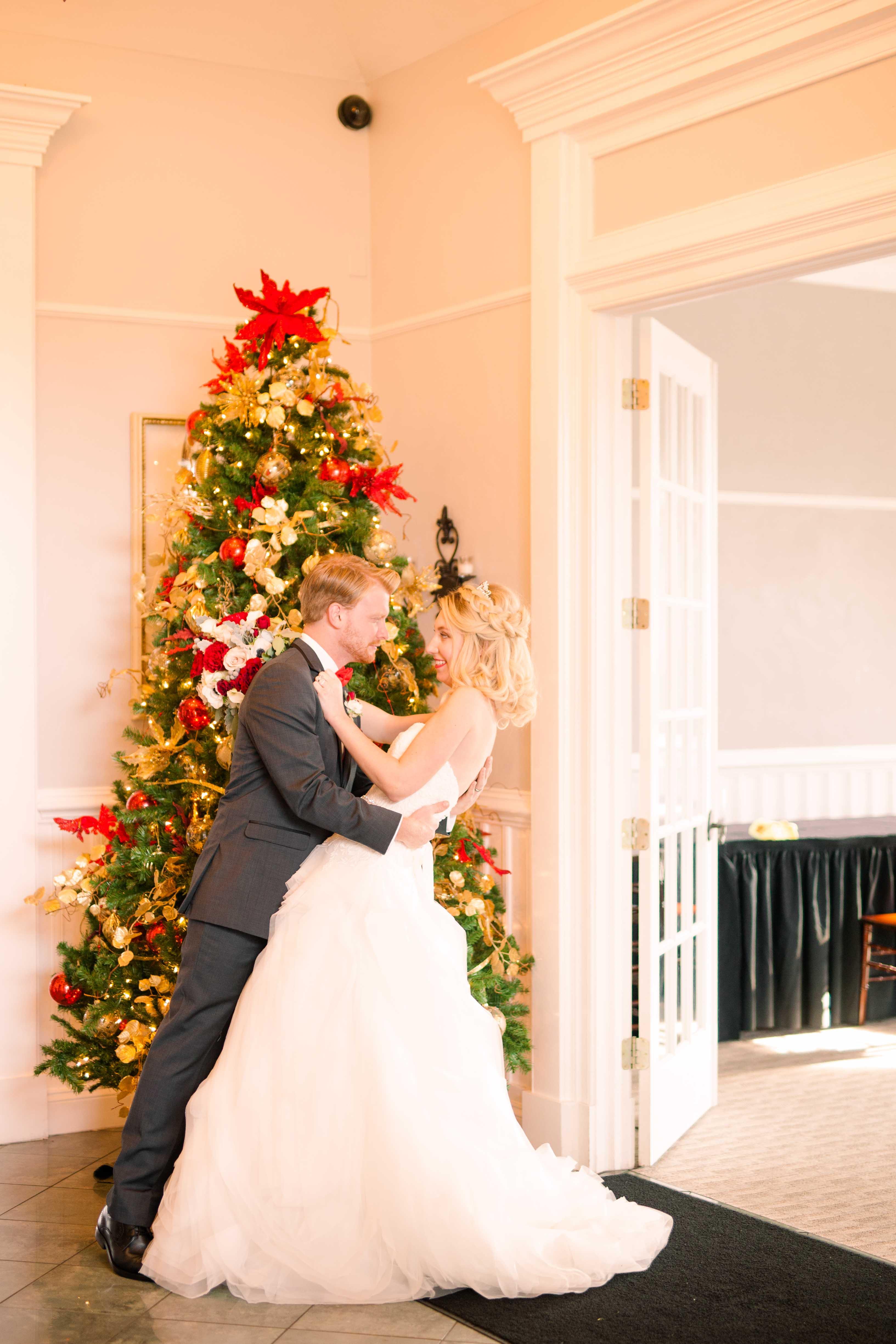 Bride and Groom Christmas tree