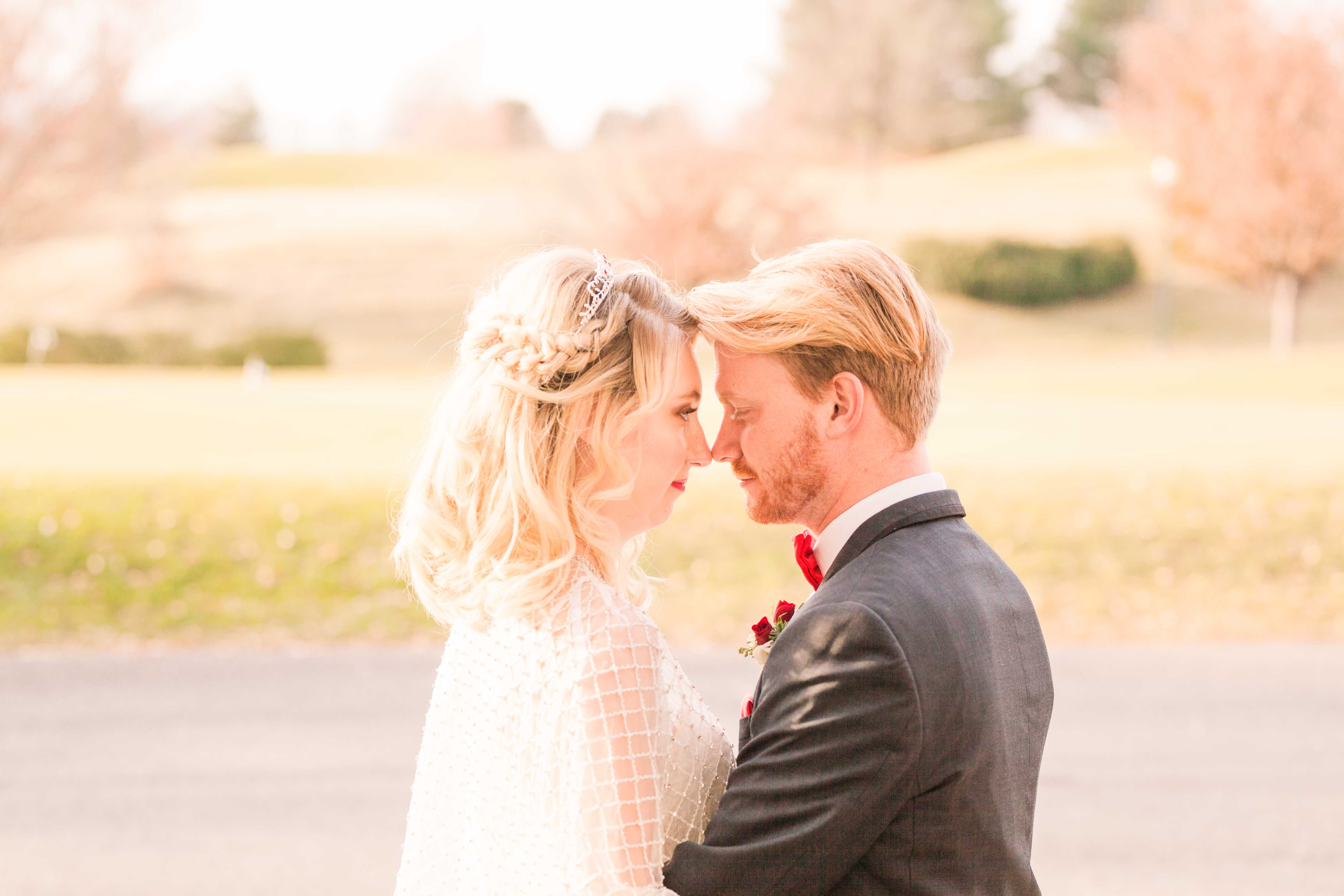 wedding couple gaze