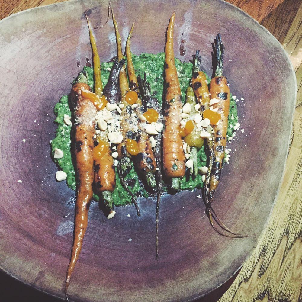 Juniper + Ivy wood grilled carrots
