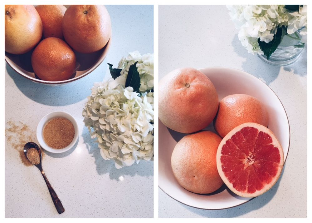 bruleed grapefruit