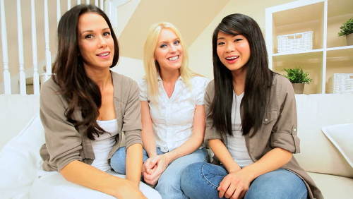 Women smiling and talking about the Bellator Pest Control Referral Program