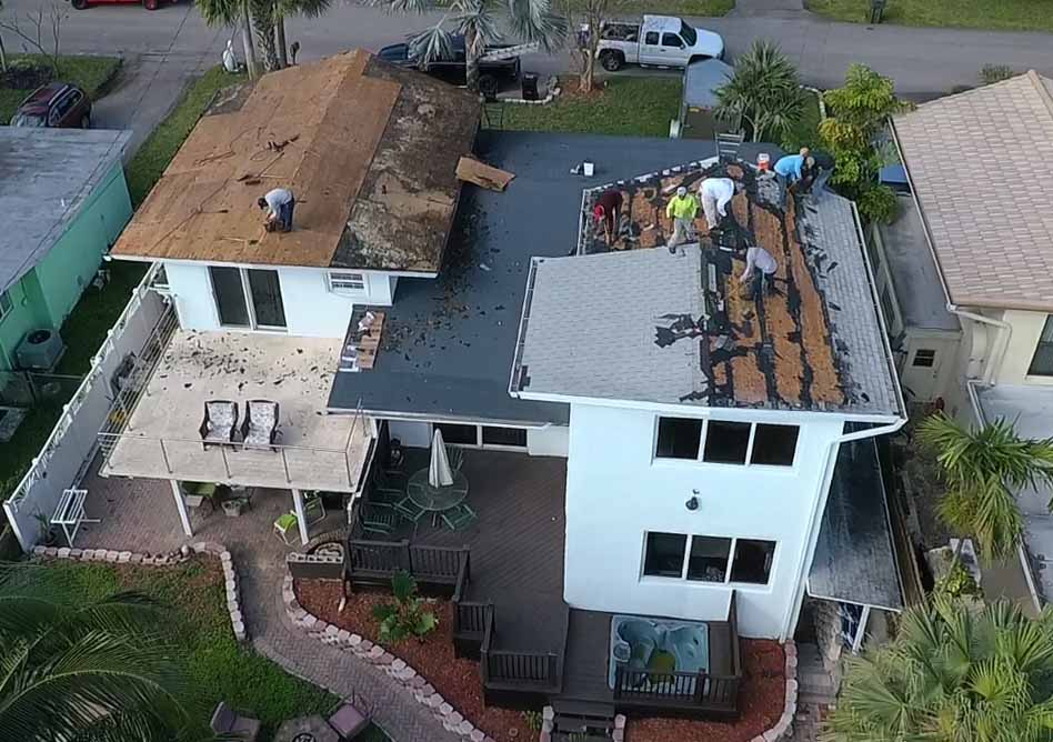 residential roofing tear off shingle roof