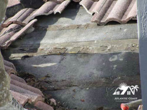 tile roof leak cap sheet