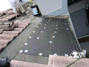 tile roof new repair cap sheet