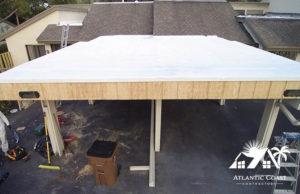 coated flat roof waterproof
