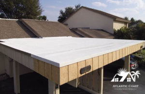 finished flat roof repair
