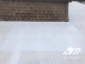 completed shingle repair