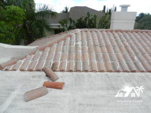 tile roof caulking sealing