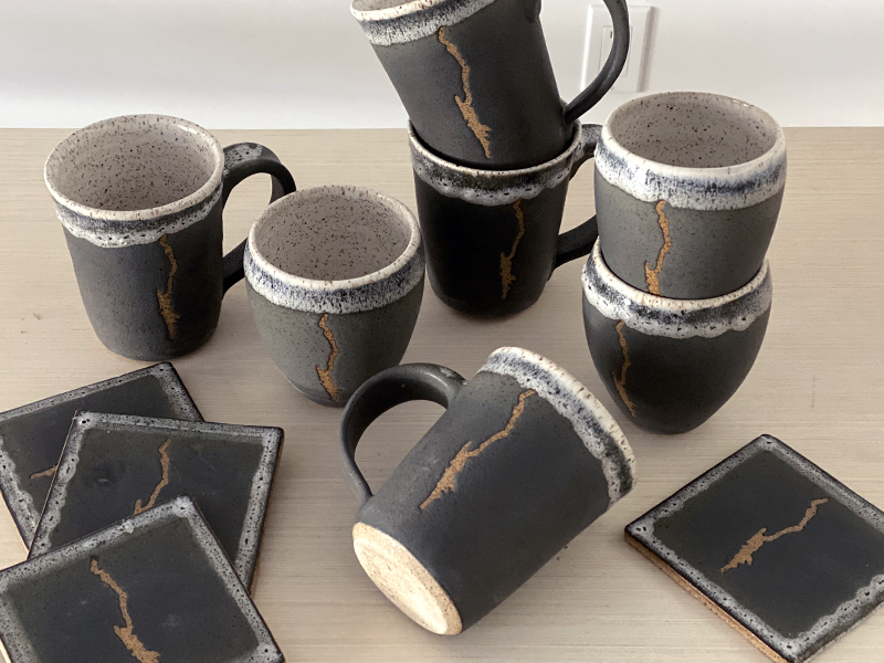 Lake George Pottery Mugs for sale
