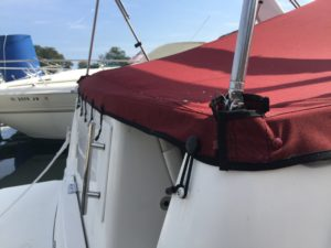 Rinker Vee 270 Custom Cockpit Cover by Chicago Marine Canvas
