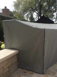 Custom Outdoor Kitchen Cover Close Up