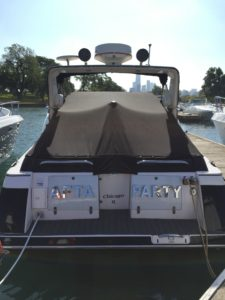 Donzi 3250 LXC Cockpit Cover by Chicago Marine Canvas