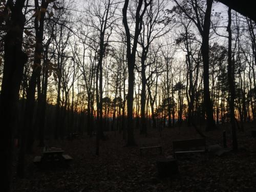 Sunset at the ridge line