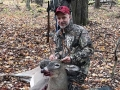 2019: Eric Nitsche with a 125-pound, 5-pointer taken during the early muzzleloading season at the Bird Brook Hunting Club in Lake Luzerne, Warren County.