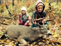 Kendra and Sydney, two future hunters, pose with a 11-point Franklin County buck