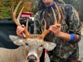 Robert McFarlane of Corinth with a hometown 176-pound, 8-pointer taken Oct. 30, Saratoga County