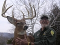 1968: Dick Johndrow of Ticonderoga with his NYS Record Book Buck