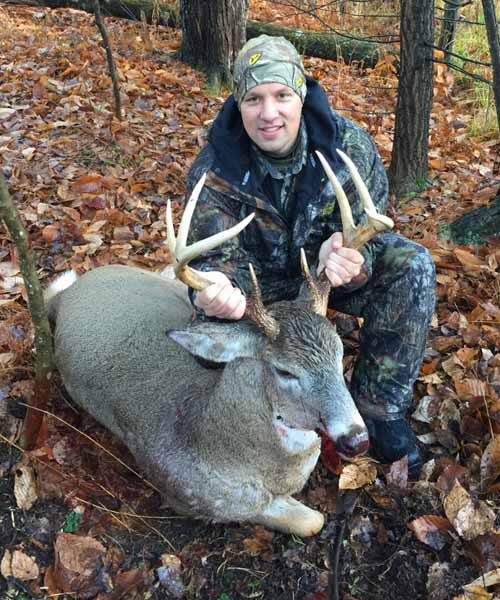 Chris Potter of Gansevoort with a 185-pound, 8-pointer taken Nov. 20 in Saratoga County