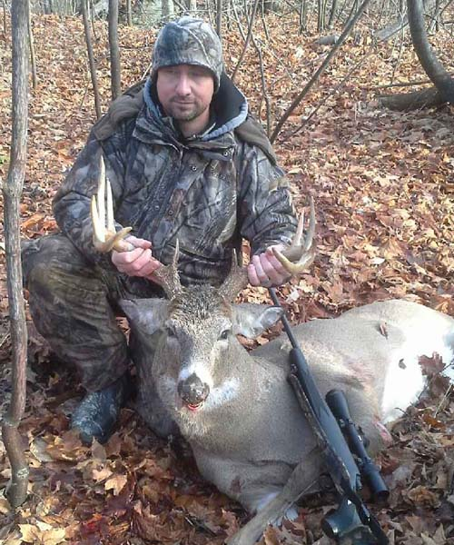 Luke Mance, Fort Ann, NY with a dandy buck taken in Thurman, Warren County