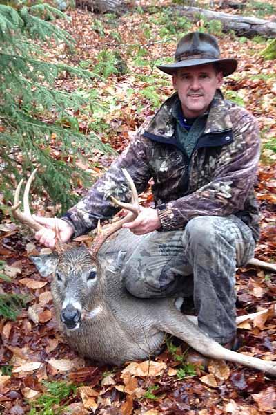 Chuck Sharrow of Fort Ann with an 8-pointer taken Dec. 1 in Minerva, Essex County