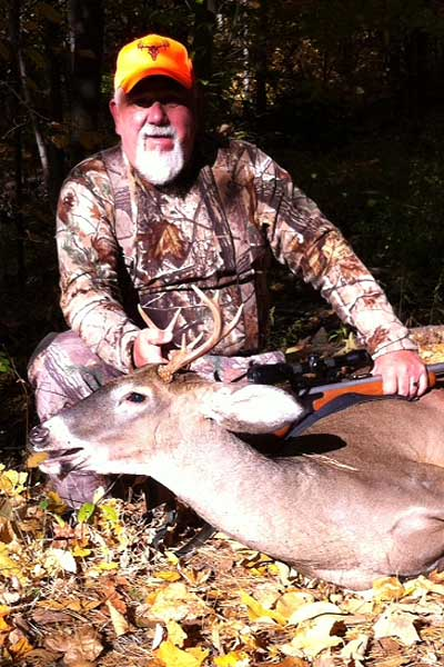 Jimmer Sherman with muzzleloading 7-pointer taken Oct. 20 while hunting with his wife, Brenda.