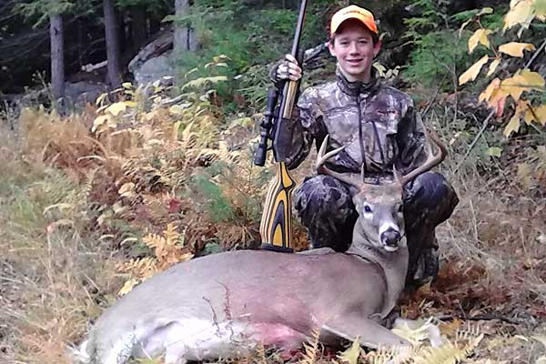 Caden Peters of Warrensburg, 14-pound, 8-pointer taken during the Youth Deer Hunt in his hometown
