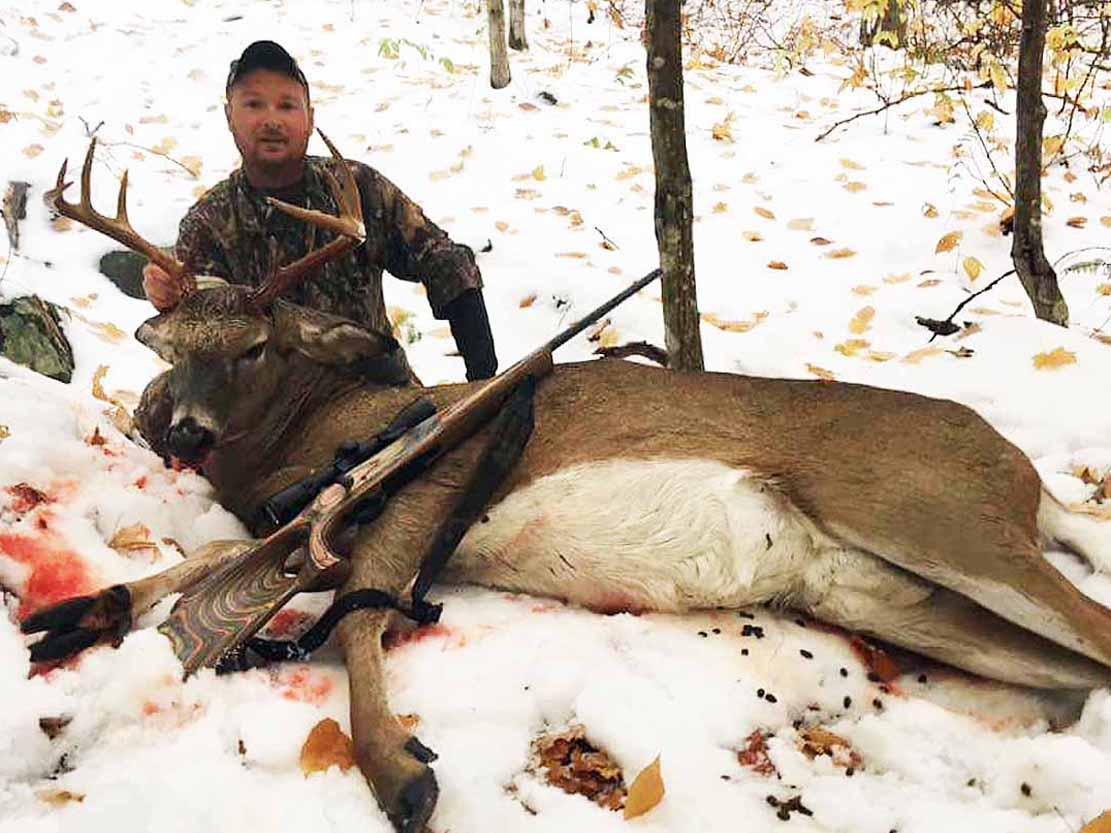 Luke Pettys with a 200-pound, 10-pointer taken in Warren County