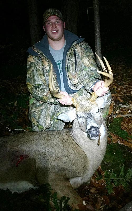 Gary Planty with a Franklin County 6-pointer that weighed 208-pounds