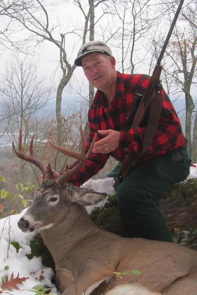 Chip Mandigo of Fair Haven, VT. 190-pound, 8-pointer taken Oct. 20 in Lake Pleasant, Hamilton County