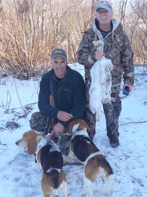 Hare hunters in Tupper Lake, late in the 2015-16 season