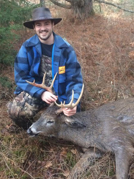 2017: Will Tennant of Heuvelton NY with 165-pound, 10-pointer taken Dec. 2 in Cranberry Lake.