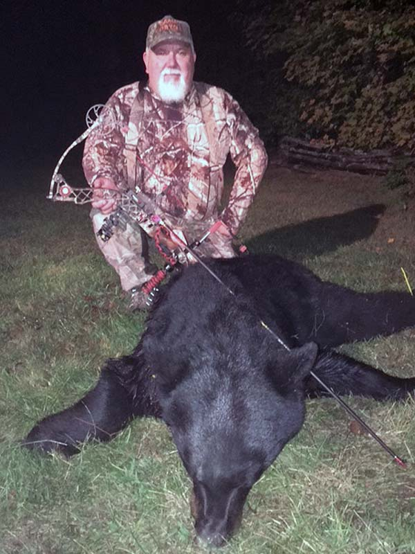 2018: Jimmer Sherman of Mineville, NY with an Opening day Archery Boar.